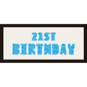 GB Cream Mount 21st Birthday Photo Font - Framed Mount - 12