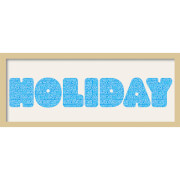 GB Cream Mount Holiday Fatty Font - Framed Mount - 12
