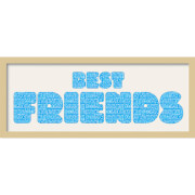 GB Cream Mount Best Friends Fatty Font - Framed Mount - 12