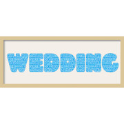 GB Cream Mount Wedding Fatty Font - Framed Mount - 12