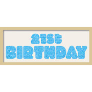GB Cream Mount 21st Birthday Fatty Font - Framed Mount - 12