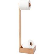 Mezza Naturholz Freistehender Toilettenpapier Halter