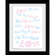 The Beatles Lyrics - Collector Print - 30 x 40cm