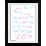 The Beatles Lyrics - Collector Print - 30 x 40cm