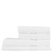 Restmor 100% Ägyptische Baumwolle 4 Stück Premium Handtuchset - Weiß