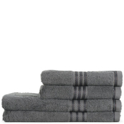 Restmor 100% Egyptian Cotton 4 Piece Supreme Towel Bale Set (500gsm) - Charcoal