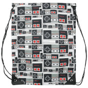 Nintendo Black Controller Logo Gym Bag