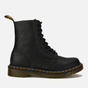 Dr. Martens Women's 1460 Virginia Leather Pascal 8-Eye Boots - Black - UK 3 - Black