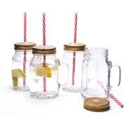 Mason Jar Mug Glasses (Set of 4)