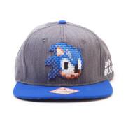 SEGA Pixel Sonic Snapback Cap - Grey/Blue