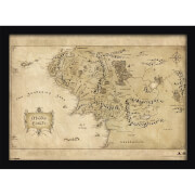 The Hobbit Middle Earth Map Framed Print (30x40)