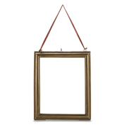 Nkuku Kariba Antique Brass Frame - Antique Brass - Portrait 8 x 10""