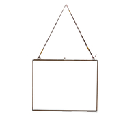 "Nkuku Extra Large Kiko Glass Frame - Antique Copper - Landscape 11"" x 14"" (29 x 36cm)"