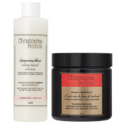 Купить Christophe Robin Regenerating Mask (250ml) and Delicate Volumizing Shampoo with Rose Extracts (250ml)