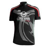 Pella Gipiemme Short Sleeve Cycling Jersey - Black