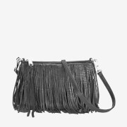 Rebecca Minkoff Women's Finn Clutch Leather Bag - Black