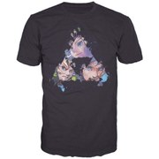The Legend of Zelda - Triangles Faces Men's T-Shirt (Black) - M