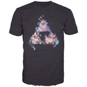 The Legend of Zelda - Triangles Faces Men's T-Shirt (Black) - XL