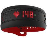 Mio Fuse Heart Rate Wrist Band  Long Strap  Crimson