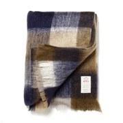 Image of Avoca Mohair M50 Throw (142 x 183cm) - Blue/Brown/Cream