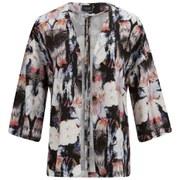 VILA Women's Sari Printed Kimono - Black - M/UK 12