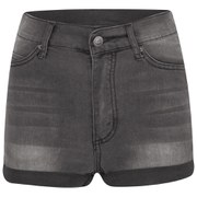 Cheap Monday Women's 'Short Skin' High-Waist Denim Shorts - Grey - W24