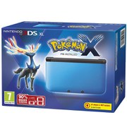 Nintendo 3DS XL Blue and Black Console  Includes Pokemon X