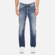 Edwin Men's ED-55 Break Used Relaxed Tapered Jeans - Dark Blue