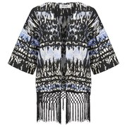 ONLY Women's Rory Tassel Kimono - Black/White/Blue