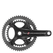 Campagnolo Super Record 11 Speed Carbon Compact Chainset - Black - 52-36T 175mm