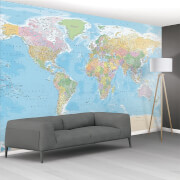 Image of 1 Wall World Map Wall Mural