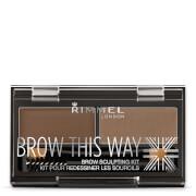 Cosmetics Rimmel Brow This Way Eyebrow Kit - Medium Brown