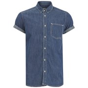WeSC Men's Eric Short Sleeved Shirt - Simply Blue