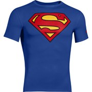 T-Shirt Under Armour® Alter Ego -Superman Bleu