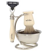 Truefitt & Hill Razor and Brush Stand With Bowl - Chrome