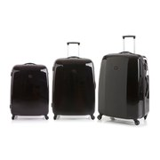 Redland 60TWO Collection Hardsided Trolley Suitcase Set  Black  756555cm (3 Piece)