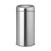 Image of Brabantia 20/20 Litre Fingerprint Proof Recycle Bin - Matt Steel
