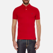 Polo Ralph Lauren Mens Slim Fit Short Sleeved Polo Shirt  Rl2000 Red  S