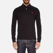 Polo Ralph Lauren Men's Slim Fit Long Sleeved Polo Shirt - Polo Black