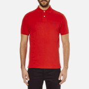Polo Ralph Lauren Mens Custom Fit Short Sleeved Polo Shirt  Red  S