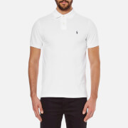 Polo Ralph Lauren Mens Custom Fit Short Sleeved Polo Shirt  White  S