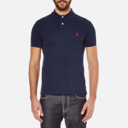 Polo Ralph Lauren Mens Slim Fit Short Sleeved Polo Shirt  Newport Navy  L