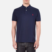 Polo Ralph Lauren Mens Custom Fit Short Sleeved Polo Shirt  Newport Navy  M