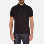 Polo Ralph Lauren Mens Slim Fit Short Sleeved Polo Shirt  Polo Black  L