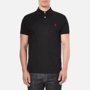 Polo Ralph Lauren Mens Custom Fit Short Sleeved Polo Shirt Pl Black Red  S
