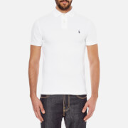 Polo Ralph Lauren Men's Slim Fit Short Sleeved Polo Shirt - White