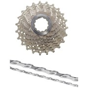 Shimano Ultegra CS-6700 Bicycle Chain and Cassette - 10 Speed Grey 11-23T