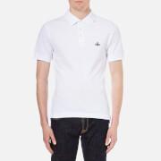 Vivienne Westwood MAN Mens Plain Pique Polo Shirt  White  XL