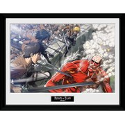 Attack on Titan Fight Scene - Framed Photographic - 16 Inch x 12 Inch