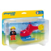 Playmobil 1.2.3 Fire Rescue Helicopter (6789)